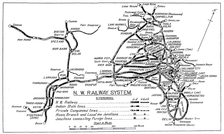 NWR Railway System 1937 Map