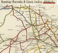 Bombay, Baroda and Central India Railway Map 1909, north section.png