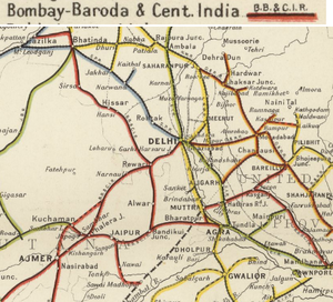 Baroda India Map.Bombay Baroda And Central India Railway Fibiwiki