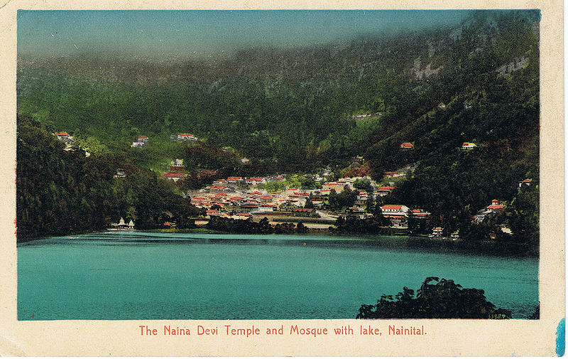 File:The Naina Devi Temple and Mosque with lake, Nainital.jpg