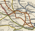 Oudh & Rohilkhand Railway Map 1909, south-east section.png