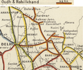 Oudh & Rohilkhand Railway Map 1909, north-west section.png