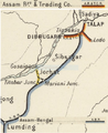 Assam Railways and Trading Company, Railway Map 1909.png