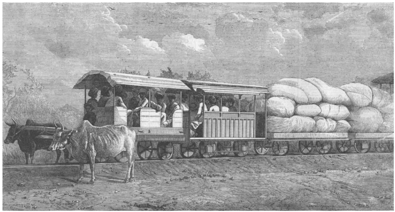 File:Gaekwar's Dabhoi Railway Bullock Hauled Train.png