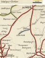 Udaipur-Chitor Railway Railway Map 1909.png